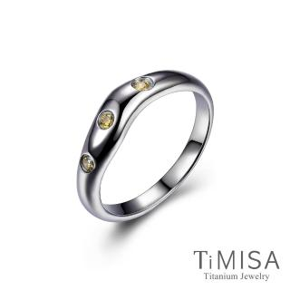 【TiMISA】動感彩鑽 純鈦戒指(雙色可選)