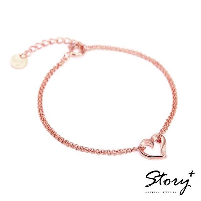 【STORY ACCESSORY】簡單的心-純銀手鍊(玫瑰金)