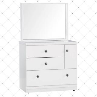 【顛覆設計】白雪2.7尺化妝鏡台(不含椅)