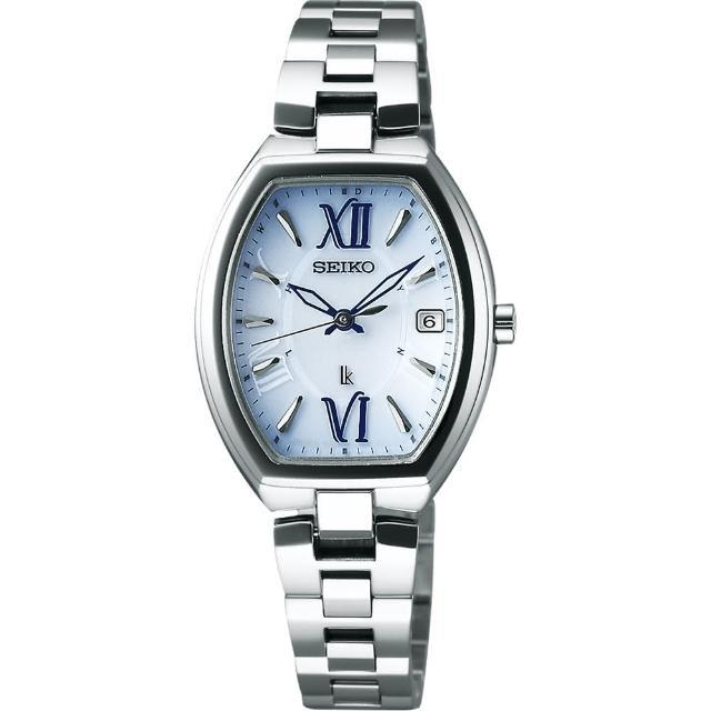 【SEIKO】LUKIA 鈦優雅太陽能電波腕錶-藍x銀/26mm(1B22-0BY0B  SSQW027J)
