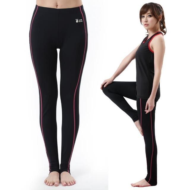 【遊遍天下】MIT台灣製3D彈力塑身輕薄款吸排機能壓力褲P110黑色(M-L)評比