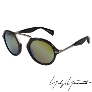 【Yohji Yamamoto 山本耀司】復古圓形鍍水銀膜太陽眼鏡(-咖啡-YY5009-115)