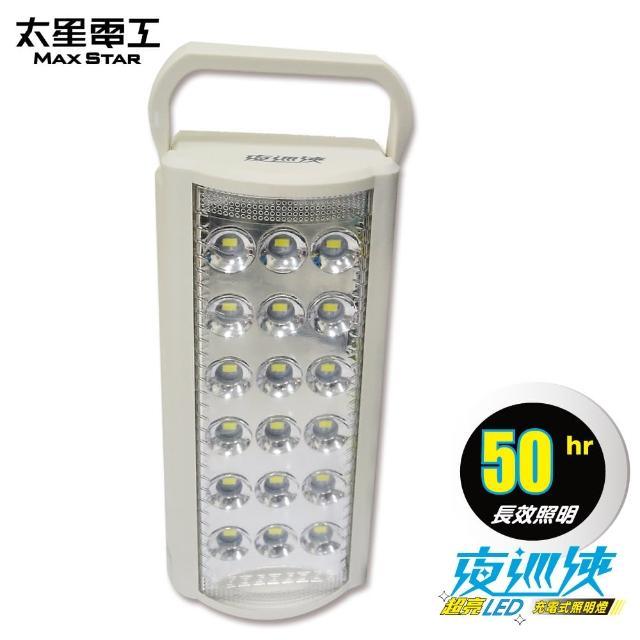 【太星電工】夜巡俠超亮LED充電式照明燈