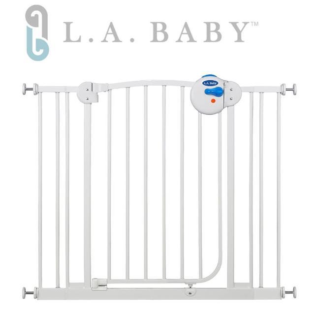 【美國 L.A. Baby】雙向自動上鎖安全鐵門欄(附贈2片 寬9公分延伸件)