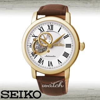 【SEIKO 精工】經典時尚 機械紳士男錶 鏡面4cm(SSA232K1)