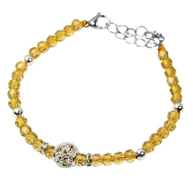 【A1寶石】時尚潮流款-晶鑽黃水晶手鍊-招旺正偏財首選(含開光加持)