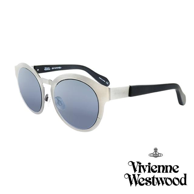 【Vivienne Westwood 英國 太陽眼鏡】金屬時尚設計(AN86001 銀)