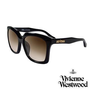 【Vivienne Westwood 英國 太陽眼鏡】英倫龐克經典LOGO造型(AN84201 黑)