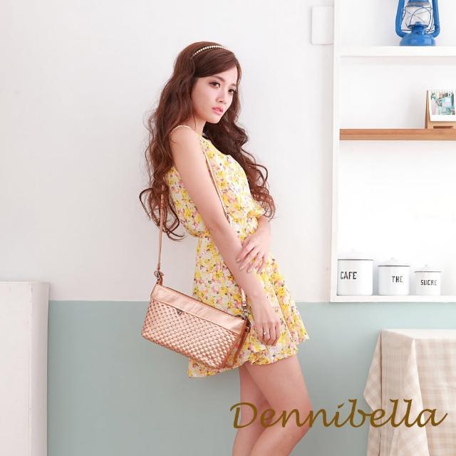 【Dennibella 丹妮貝拉】牛皮斜背編織包-咖(4D170581691)