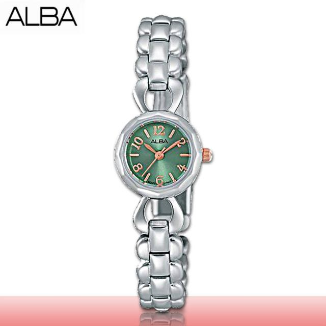 【SEIKO 精工 ALBA 系列】甜美氣質錶款 簡約時尚 不鏽鋼女錶(AC3U97X1)