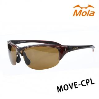 【Mola Sports】摩拉運動偏光太陽眼鏡 MOVE-CPL(100%抗紫外線 彈性鏡框 符合臉型)