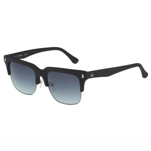 【Calvin Klein】- 帥氣太陽眼鏡(黑配銀)