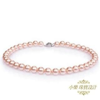 【小樂珠寶】3A頂級7-7.5mm天然珍珠項鍊*好美的皮光 讓人愛不釋手