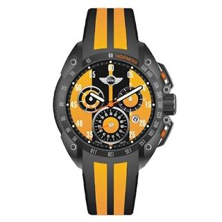 【MINI Swiss Watches】英倫風範運動計時腕錶-黃x黑(MINI-160102)
