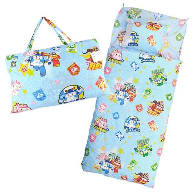 【BabyTiger虎兒寶】卡通造型幼教兒童睡袋-POLI 救援小英雄 波力 ROBOCAR(睡袋 poli 波力)