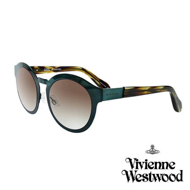 【Vivienne Westwood 英國 太陽眼鏡】金屬時尚設計(AN86005 綠)