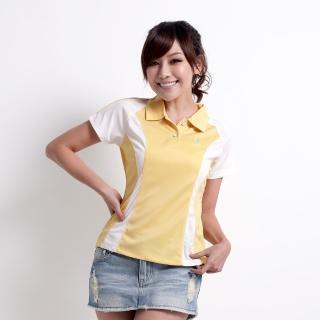 【遊遍天下】女款抗UV涼爽吸濕排汗機能POLO衫MS019鵝黃(M-5L)
