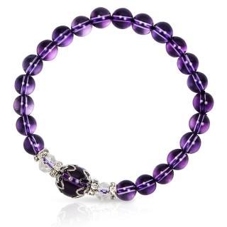 【A1寶石★十二星座】星座誕生石-晶鑽紫水晶-幸運石(含開光)