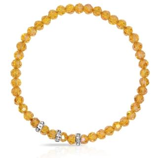 【A1寶石】晶鑽幸運水晶系列-提升財運-增加好桃花貴人運(波菊黃-含開光)