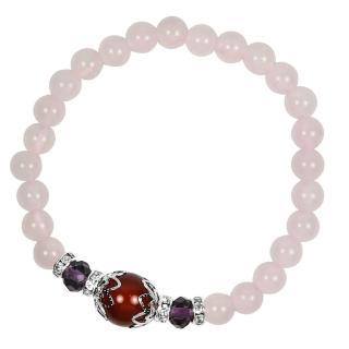 【A1寶石★十二星座】星座誕生石-晶鑽粉水晶紅瑪瑙-幸運石(含開光)