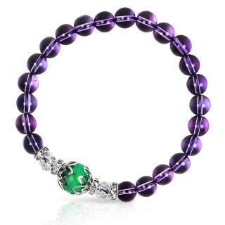 【A1寶石★十二星座】星座誕生石-晶鑽紫水晶白水晶綠松石-幸運石(含開光)