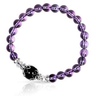 【A1寶石★十二星座】星座誕生石-晶鑽紫水晶白水晶黑曜石-幸運石(含開光)