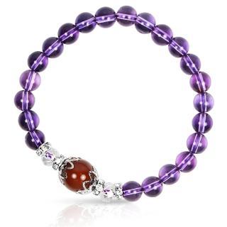 【A1寶石★十二星座】星座誕生石-晶鑽紫水晶白水晶紅瑪瑙-幸運石(含開光)