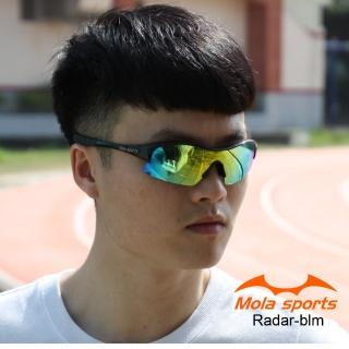 【Mola Sports】RADAR-BLM(時尚墨鏡擊防塵抗UV護目鏡 防護眼鏡騎行擋風)