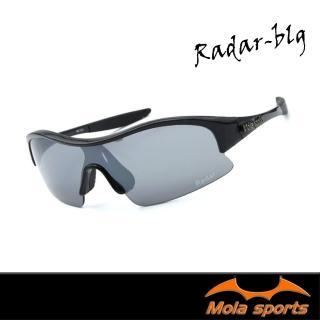 【Mola Sports】摩拉運動太陽眼鏡耐撞擊鏡片RADAR-BLG(專業運動眼鏡耐撞擊鏡片抗紫外線自行車高爾夫跑步)