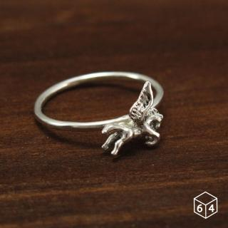 【ART64】戒指 飛馬 Pegasus 925純銀戒指