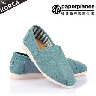 【PAPERPLANES韓國休閒鞋】正韓空運。簡約明亮色系拼接舒適懶人鞋(7-1197現貨)