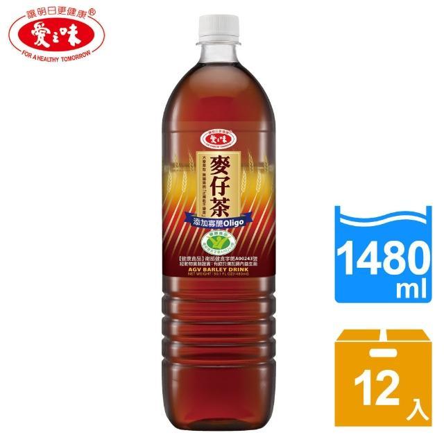 【愛之味】麥仔茶1480ml x 12瓶(國家健康食品認證)