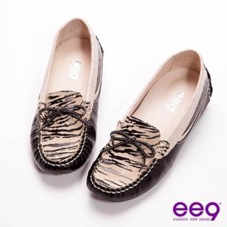 【ee9】機能健走-專利磁石按摩吸震止滑吸盤休閒豆豆鞋-風行黑(休閒豆豆鞋)