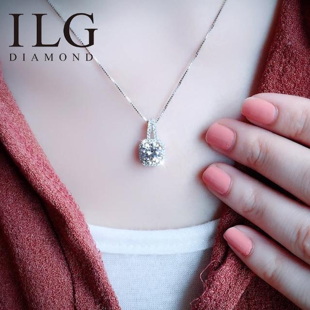 【ILG鑽】頂級八心八箭擬真鑽石項鍊- 永恆璀璨款-NC085適合氣質優雅的妳(白K金色)