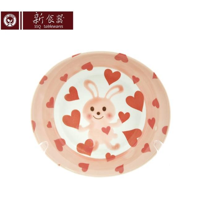 【新食器】日本製甜心兔8吋橢圓餐盤