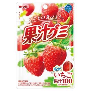 【Meiji 明治】果汁QQ軟糖-草莓51g(軟糖)