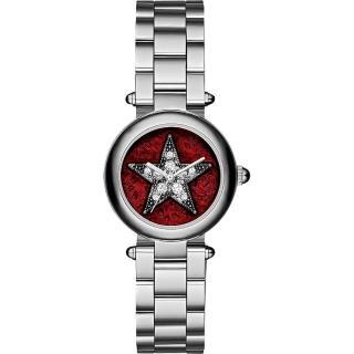 【Marc Jacobs】Dotty 紐約之星魔幻晶鑽女錶-紅x銀/26mm(MJ3479)