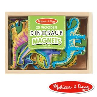 【美國瑪莉莎 Melissa & Doug】益智遊戲(恐龍造型木質磁鐵貼)