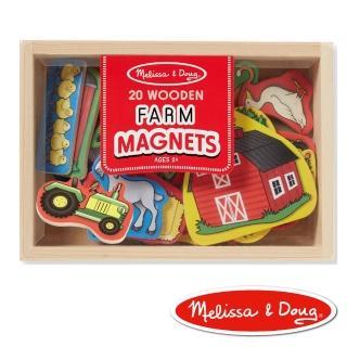 【美國瑪莉莎 Melissa & Doug】益智遊戲(農場動物木質磁鐵貼)