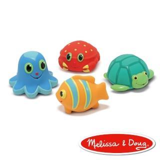 【美國瑪莉莎 Melissa & Doug】SP 海洋噴水生物-4 PCS