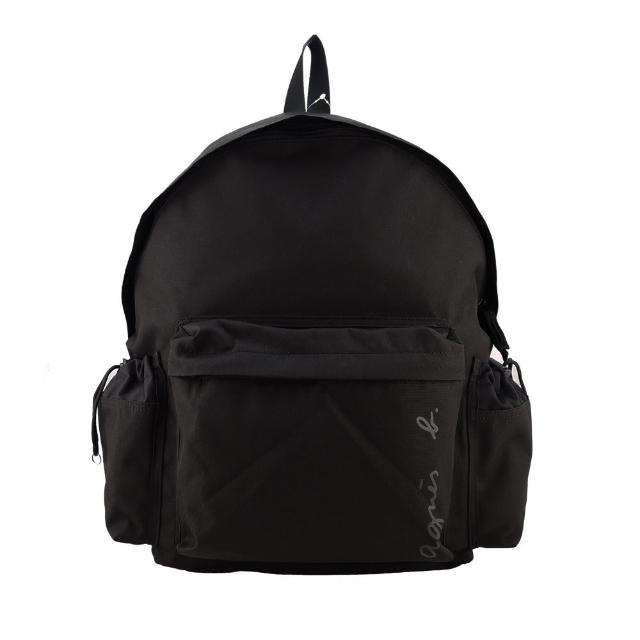 【agnes b.】簽名版帆布後背包(黑)