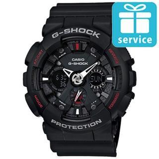 【CASIO】G-SHOCK 機車儀表板造型概念雙顯錶(GA-120-1A)