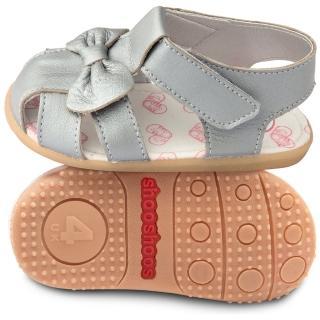 【shooshoos】安全無毒真皮健康手工涼鞋/童鞋_銀蝴蝶_102025(公司貨)