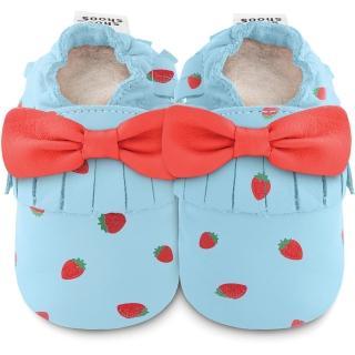 【shooshoos】安全無毒真皮健康手工學步鞋/嬰兒鞋/室內鞋/室內保暖鞋_草莓蝴蝶流蘇_102256(公司貨)