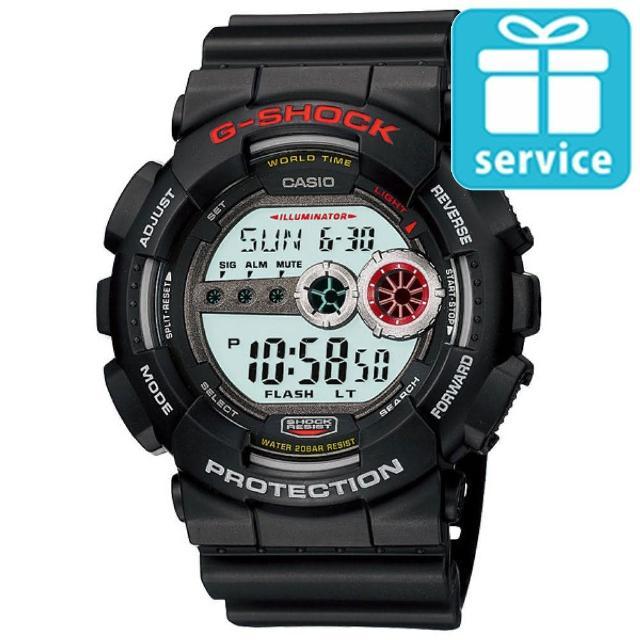 【CASIO】G-SHOCK 強悍菱格壓紋造型錶(GD-100-1A)