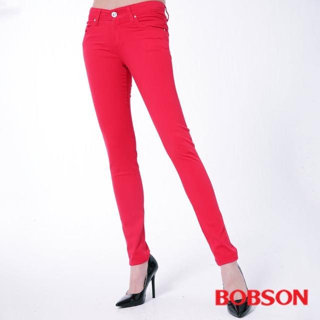 【BOBSON】女款膠原蛋白彩色小直筒褲(8118-03)