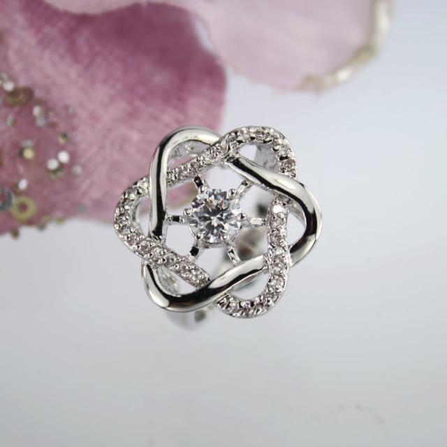 【xmono】擁抱八心八箭晶鑽戒指