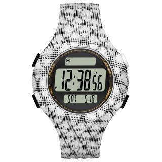 【adidas】勁戰狙擊大面板電子腕錶-白黑網格-小(ADP3246)