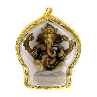 【十相自在】6.1公分 小佛像/法像 佛龕掛墜吊飾-古銅色(象鼻神)