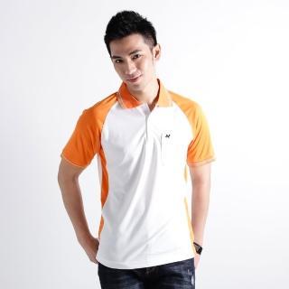 【遊遍天下】男款抗UV涼爽吸濕排汗機能POLO衫NS004白桔(S-2L)